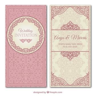 Invitación ornamental de boda