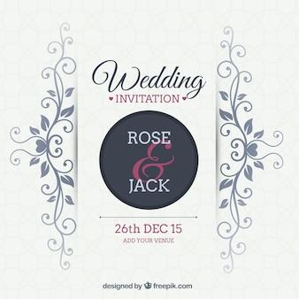 Invitación ornamental de la boda