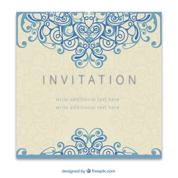 Invitación retro en estilo ornamental