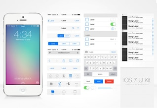 Ios 7 ui vectoriales kit