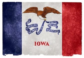 Iowa bandera del grunge