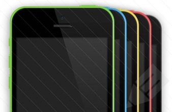 Iphone 5 maquetas pantalla psd