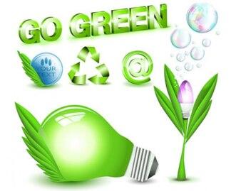 ir a los iconos verdes conjunto