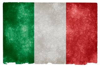 Italia grunge bandera