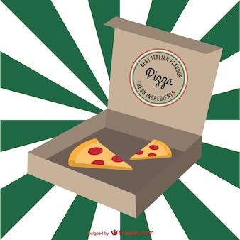 Dibujo de pizza en su caja