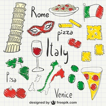 Italia dibujos paquete