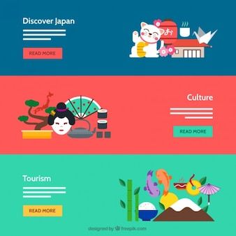 Banners cultura japonesa
