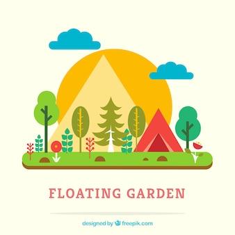 Jardín flotante