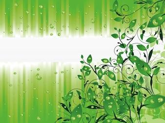 Jardín verde con las gotas de lluvia de fondo abstracto