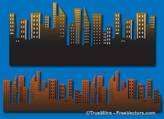 Juego de fondo de la ciudad los edificios