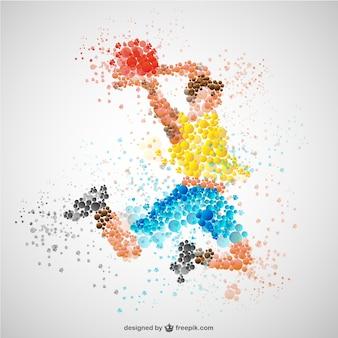 Jugador de baloncesto a color
