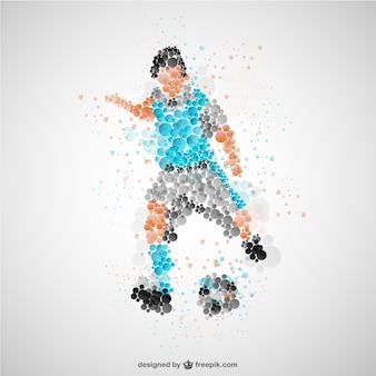 Jugador de fútbol con camiseta azul