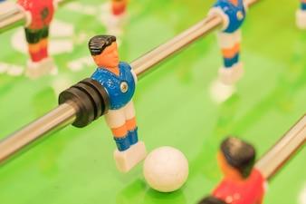 Jugador de fútbol de plástico