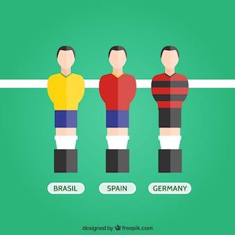Jugadores de futbolín