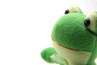 juguete de color verde suave y esponjosa, la fantasía