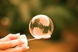 Justo colorido burbuja foto gratis