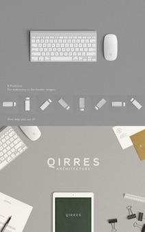 Maqueta de teclado y ratón