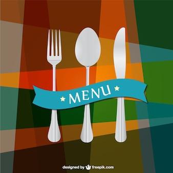 Plantilla de fondo de menú de restaurante