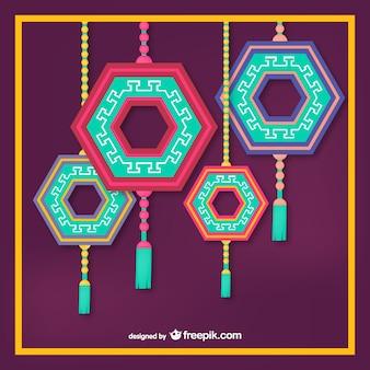 Ornamentos colgantes coreanos