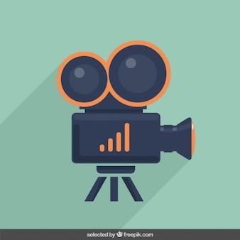 La cámara de vídeo de la ilustración
