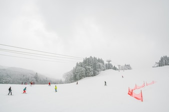 La congelación de la cuerda las vacaciones de frío del paisaje
