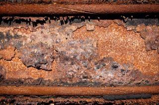 la construcción de la textura de metal oxidado