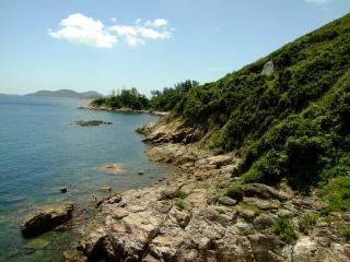 la costa del río en hong kong