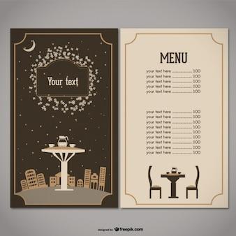 la cubierta del menú de diseño vectorial