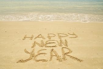 La felicidad del símbolo de comunicación vacaciones del Año Nuevo