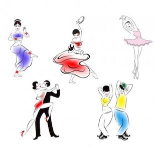 La gente baila bocetos