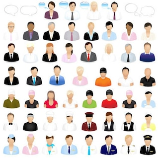 la gente de negocios vector icono