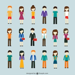 La gente moderna iconos