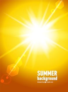 La luz del sol vector