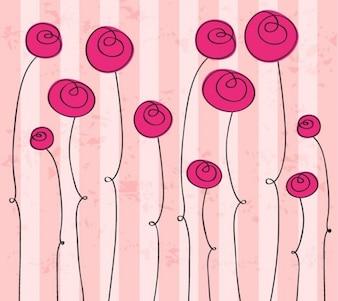 la mano abstracta elaborado romántica flores gráfico vectorial