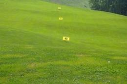 la práctica del golf, entretenimiento