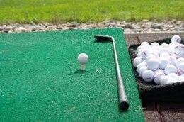la práctica del golf