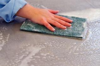 la superficie de limpieza