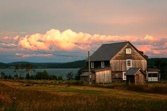La tormenta lago hache atardecer lac patrimonio