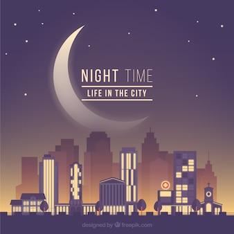 La vida en la ciudad en la noche