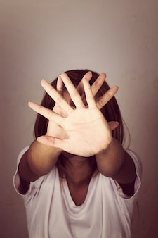 La violencia de palma negar los derechos valientes