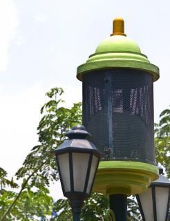 lámpara del jardín verde