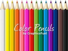 lápices de colores psd paquete
