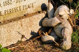 Lápida oso de peluche
