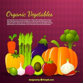 Las hortalizas orgánicas fondo