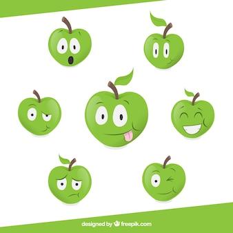 Las manzanas de dibujos animados