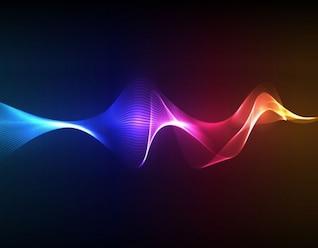 las ondas de humo de colores arte vectorial