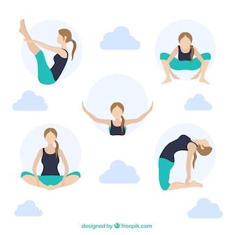 Las posturas de yoga