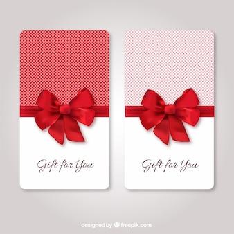 Las tarjetas de regalo plantilla