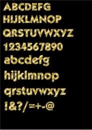 letras de oro efecto alfabeto
