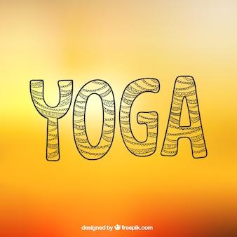 Letras de yoga abstracta